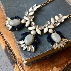 Chic Versatile J. Crew Crystal Statement Necklace